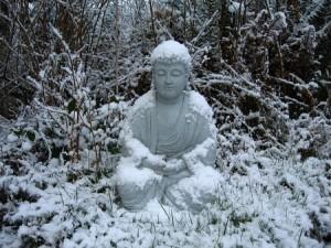 12-5-14 snow Buddah