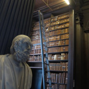 2015-7-31 Ireland statue in library